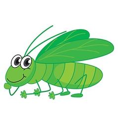 A smiling grasshopper vector
