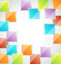 Abstract creative background with squares vector image