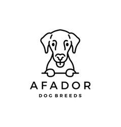 Afador dog breed logo icon vector