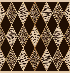 animal beige and brown geometric seamless pattern vector image