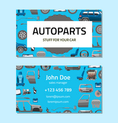 Autoparts business card template stuff for your vector