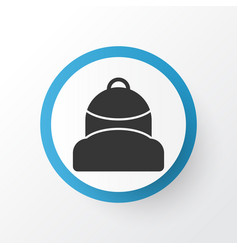 backpack icon symbol premium quality isolated vector image