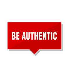 Be authentic red tag vector