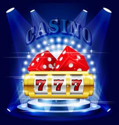 Big win or jackpot - 777 on slot machine casino vector