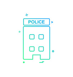 building police station icon design vector image
