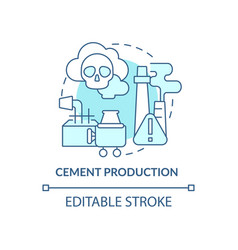 Cement production concept icon vector