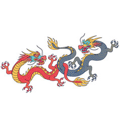 chinese dragons vector image