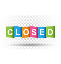closed tag market message flat on isolated vector image