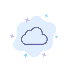 cloud data storage cloudy blue icon on abstract vector image