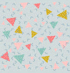 Colorful abstract pattern with triangles vector