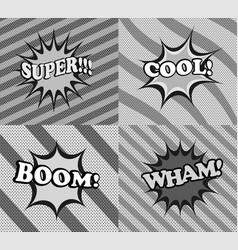 Comic book monochrome style background vector