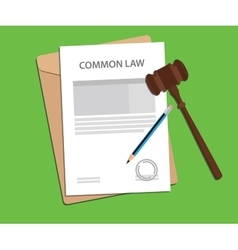 Common law concept with gavel and vector