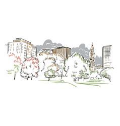 Connecticut hartford sketch line usa landscape vector