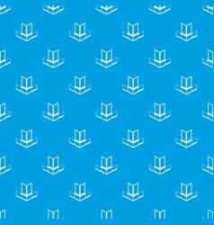 corner glass balcony pattern seamless blue vector image