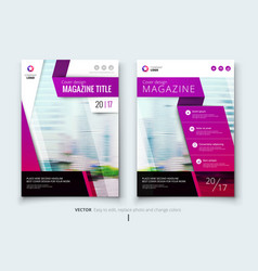 Corporate business annual report cover brochure vector