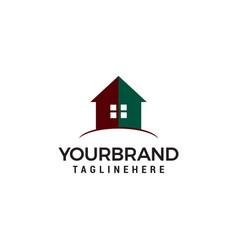 creative real estate logo design house logo vector image