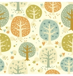 cute seamless forest background vector image