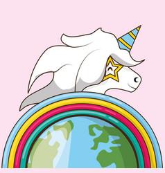 cute unicorn design vector image