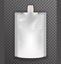 doypack liquid sealed plastic sachet food bag vector image