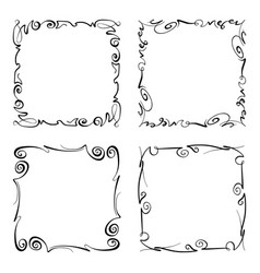 flourish squiggly frame rectangle with vector image