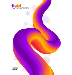 fluid background abstract colorful shape vector image