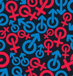Gender symbols sexual category theme seamless vector image