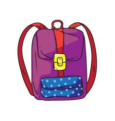 girl backpack vector image