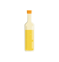 Glass bottle of natural olive or sunflower oil vector
