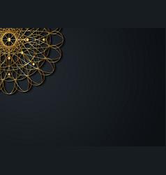 Gold vintage greeting card on black background vector
