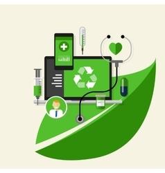 green recycle health medical environment friendly vector image