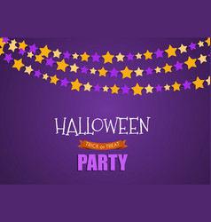 halloween party background template vector image