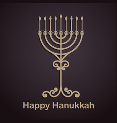 Hanukkah background with menorah vector