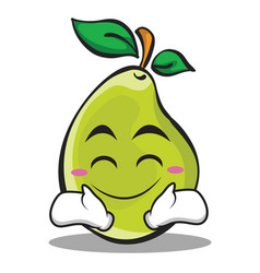Happy face pear character cartoon vector