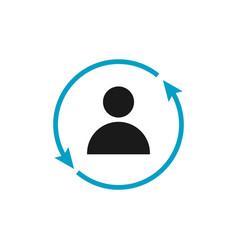 Human icon template design vector
