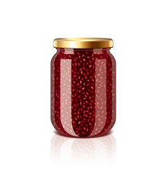 Jam jar isolated vector
