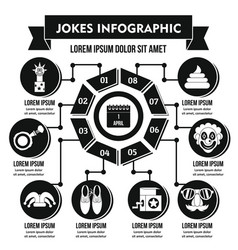 Jokes infographic concept simple style vector