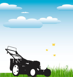 Lawn Mower background vector image