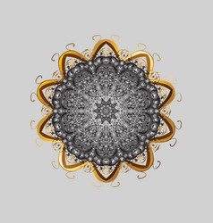 mandala isolated snowflake ornament object vector image