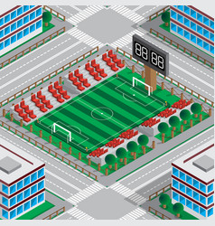 map stadium with a football field vector image
