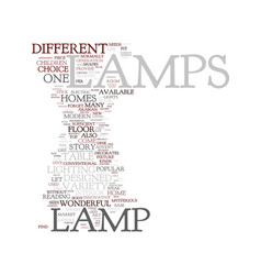modern lamps text background word cloud concept vector image
