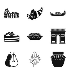 Moonshine icons set simple style vector