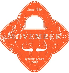 November 27 2014 The Movember Foundation is an vector image