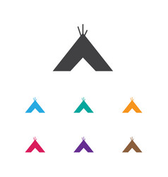 of travel symbol on tepee icon vector image