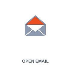 open email icon premium two colors style design vector image