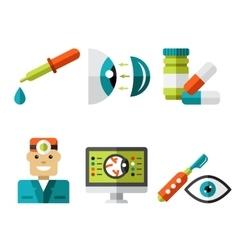 Optical Icons Ophthalmology set vector image