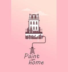 paint facade house concept vector image