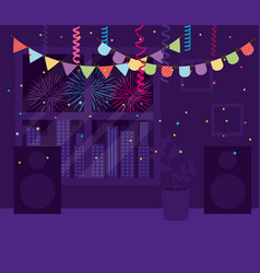 party banner inside home design vector image