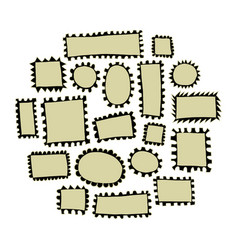 Post stamp collection vector