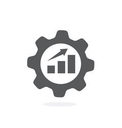 productivity flat icon on white background vector image
