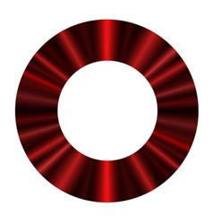 Round frame a luxurious red curtain vector
